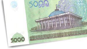 Uzbekistanilainen 5000 somin seteli.
