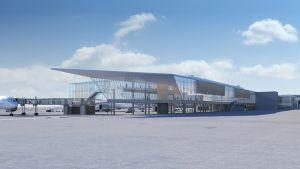 Laajennusosan havainnekuvia Helsinki-Vantaan lentokentältä.