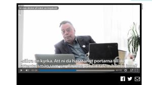 Ruotsalainen kunnallispoliitikko Lennart Karlsson Jönköpings-Posten -lehden haastattelussa.