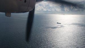 Itämeren suojelukomissio Helcomin ilmavalvontaa Itämerellä.