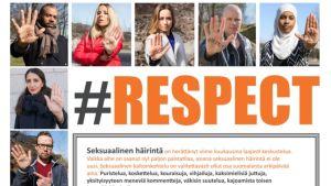 #Respect-kampanja taistelee seksuaalista häirintää vastaan.