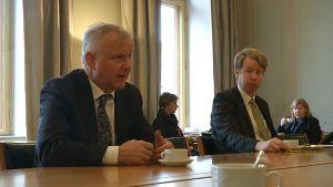 Olli Rehn Porissa