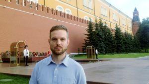 Ylen Venäjän toimittaja Erkka Mikkonen Moskovassa.