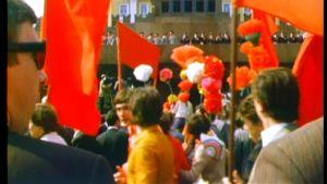 Vappuparaati Moskovassa vuonna 1977.