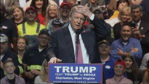 Kuvassa Yhdysvalloissa republikaanien presidenttiehdokkaaksi pyrkivä Donald Trump.