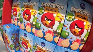 Angry Birds -keksipaketteja