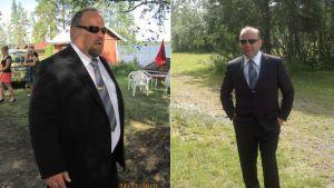 Henrik Erikson ennen ja jälkeen suuren painonpudotuksen