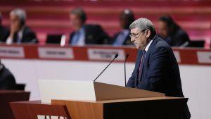 Kosovon jalkapalloliiton puheenjohtaja Fadil Vokrri.