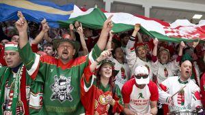 Unkarin kiekkofaneja Pietarista 7.5. 2016