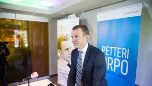 Petteri Orpo avasi puheenjohtajakampanjansa maanantaina.