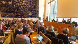 Tampereen kaupunginvaltuusto kuuntelee pormestari Anna-Kaisa Ikosta