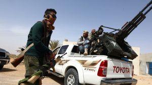 ISISin vastaisia taistelijoita Sirten kaupungissa Libyassa maaliskuussa 2015.
