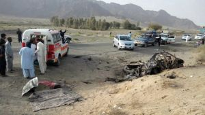 Kuva paikalta, jossa mullah Aktar Mansourin uskotaan kuolleen lennokki-iskussa.
