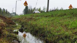 Hirvikolareita sattuu usein riista-aidan päättymialuella.