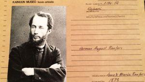 Kainuun museon arkistoima valokuva Herman Renforsista.