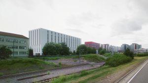 Havainnekuva esittää Turun Kupittaalle rakennettevaa Pohjola Sairaalaa.