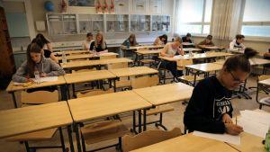 Koe Oulunkylän yhteiskoulun lukiossa keväällä 2016.