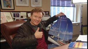 Conan O´Brien hurahti Suomeen vuonna 2006.