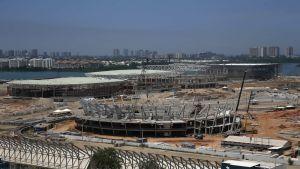 Rion olympiakylän rakennustyöt.