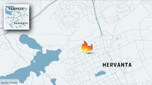 Kartta tulipalopaikasta