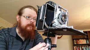Samuli Valo ja pressi-kamera