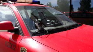Kameroita pelastusauton nokalla