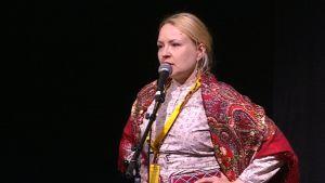 Katja Gauriloffin Kuun Metsän Kaisan ennakkoensi-ilta Sodankylän elokuvajuhlilla.
