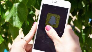 Snapchat-sovellus auki puhelimen näytöllä.
