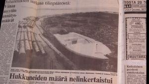 Helsingin Sanomat uutisoi Suomen synkimmästä juhannuksesta tiistaina 27.6.1978.