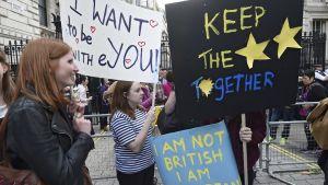 Nuorten protesti Lontoossa EU-eroa vastaan