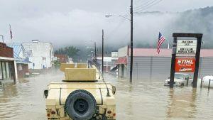 Länsi Virginia tulvat.