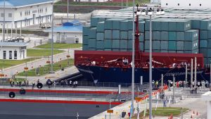 Panaman kanavan laajennus avattiin liikenteelle 26. kesäkuuta.
