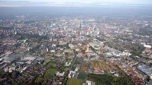 Manchester kuvattuna ilmasta vuonna 2008.