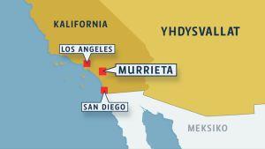 Kartta, jossa Murrieta.