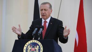 Turkin presidentti Recep Tayyip Erdoğan.