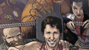 Kanadan pääministeri Justin Trudeau Marvelin Civil War -sarjakuvalehden kannessa.
