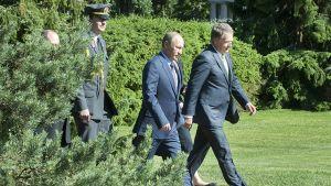 Venäjän presidentti Vladimir Putin tapasi presidentti Sauli Niinistön Kultarannassa 25. kesäkuuta 2013.
