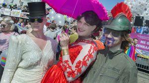 Helsinki Pride 2016 kulkue.