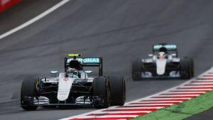 Mercedekset Itävallan GP:ssä.