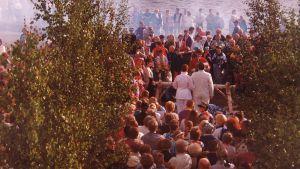 Kylähulluhäät 90-luvulla Kemissä.