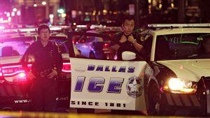 Poliisien ampumistapaus Dallasissa.