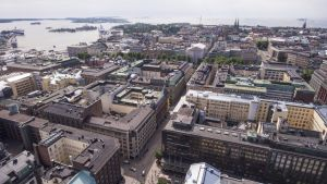 Ilmakuva Helsingin keskustasta.