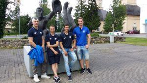 Mikko Kanala, Janne Heimonen, Severi Lassila ja Sami-Petteri Kivimäki ovat solmineet jatkosopimukset Vimpelin Vedon kanssa.