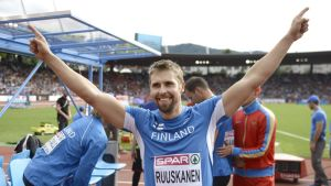 Antti Ruuskanen Zürichin EM-kisoissa 2014.