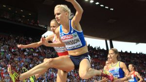 Sandra Eriksson Zürichin EM-kisoissa 2014.