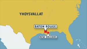 Baton Rouge kartalla.