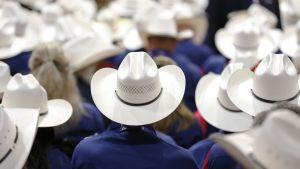 Teksasin delegaatio koolla republikaanien puoluekokouksessa Clevelandissa 18. heinäkuuta.