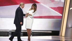 Doanld ja Melanie Trump republikaanien puoluekokouksessa 19. heinäkuuta.