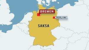 Kartta Bremenistä