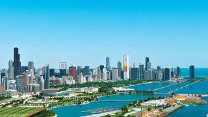 Havainnekuva Chicagon olympiapuistosta.
